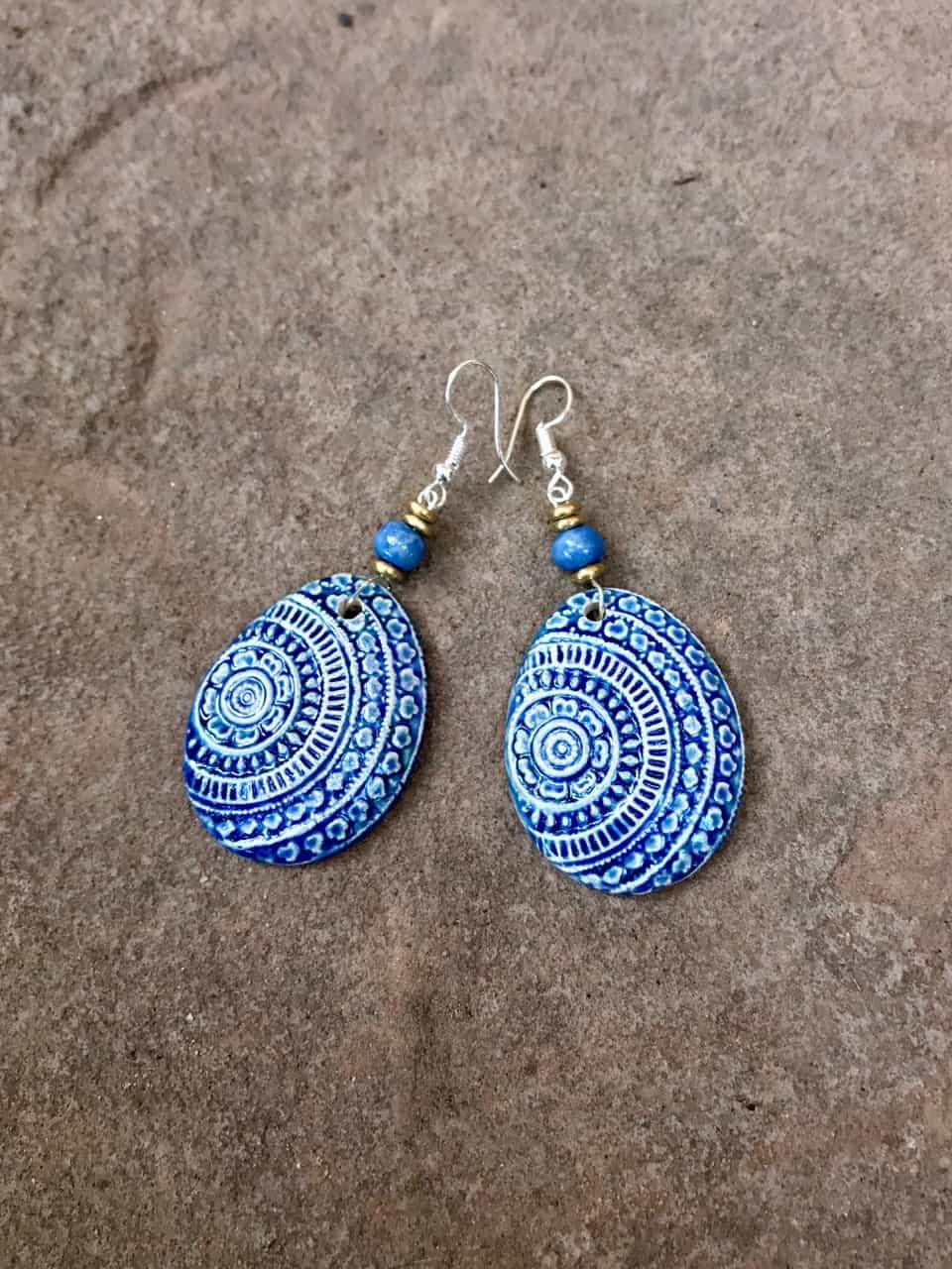 Champa Earings - Indigo Blue