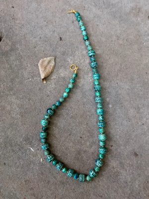 Angkor Tahitian Green Necklace