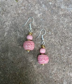 Angkor Earrings Fairy Floss Pink