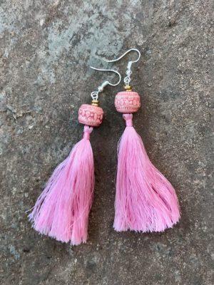 Angkor Tassel Earring Fairy Floss Pink