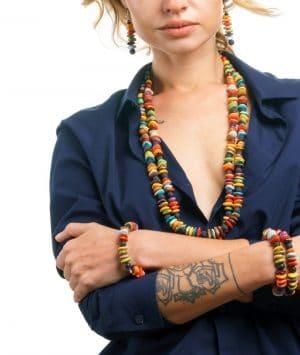 Kali Ceramic Bead Bracelet