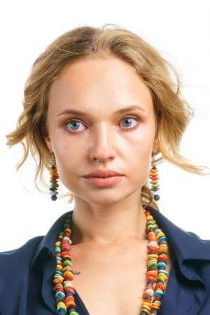 Kali Handmade Ceramic Bead Earrings