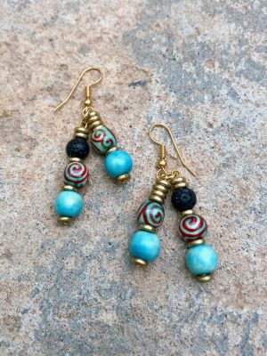Malis Handmade Ceramic Spiral Earrings