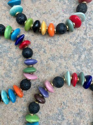 Rio Ceramic Bead Bracelet in Multi