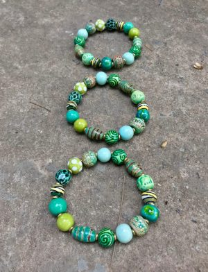 Sedona Ceramic Bead Bracelet Monsoon Green