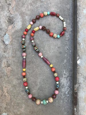 Sedona Ceramic Bead Necklace Desert Rose