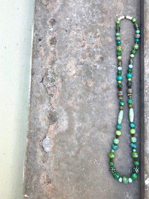 Sedona Ceramic Necklace Monsoon Green
