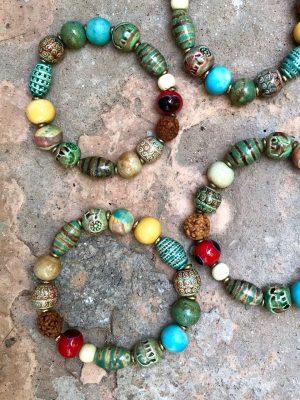 Persia Handmade Ceramic Bracelet Multi Earth