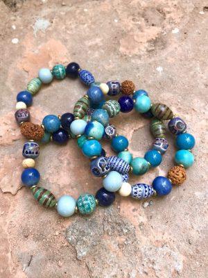 Persia Handmade Ceramic Bracelet the Blues