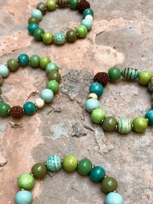 Persia Handmade Ceramic Bracelet Monsoon Green