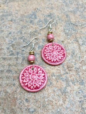 Shield Maiden Ceramic Earrings – Shades of Rose