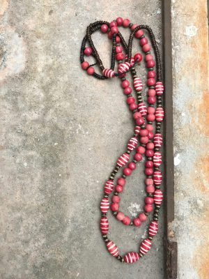 Somtana Handmade Ceramic Necklace – Ablaze Red