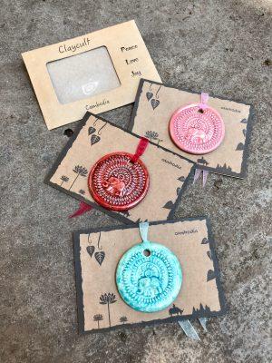 Handmade Ceramic Elephant Gift Cards