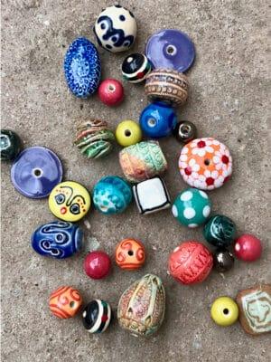 Handmade Ceramic Beads in Multi Colours